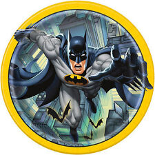 BATMAN Gotham Hero LARGE PAPER PLATES (8) ~ Birthday Party Supplies Dinner Lunch