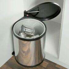 Cocina Mono basura automático puerta abierta de fijación de acero inoxidable de 15 litros 400mm