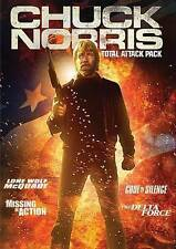 CHUCK NORRIS TOTAL ATTACK PACK (DVD, 2014, 4-Disc Set) NEW