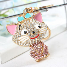 Smile Cat Lovely New Fashion Cute Crystal Purse Bag Key Chain Wedding Party Gift