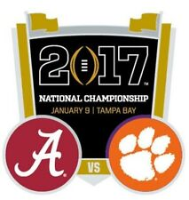 Official 2017 College Football National Championship Game Pin Alabama vs Clemson