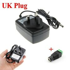 12V 2A 100-240V To DC Charger Supply Power Transformer Converter Adapter UK Plug