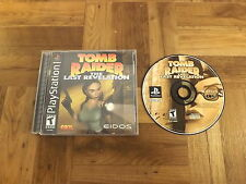 TOMB RAIDER: LAST REVELATION Playstation game COMPLETE! Rare PS1 Near Mint Disc