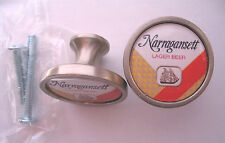 Narragansett Beer Cabinet Knobs, Narragansett Beer Logo Cabinet Knobs, Lager