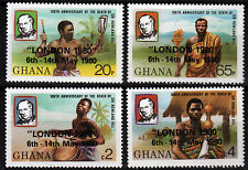 Ghana 826-29 A **, 100. Todestag Sir Rowland Hill, Aufdruck London 1980