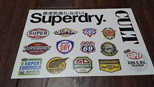 SUPERDRY STICKERS STICKER SHEET SUPER DRY