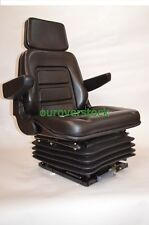 NEW SUSPENSION SEAT WITH ARMREST FITS EXCAVATOR FORKLIFT DOZER BACKHOE TRACTOR
