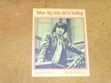 Steve Alaimo sheet music When My Little Girl is Smiling 1971 3 pages (VG+ shape)