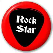 Small 25mm Lapel Pin Button Badge Novelty Rock Star Plectrum