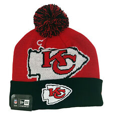 KANSAS CITY CHIEFS New Eran Woven Biggie Pom Knit Beanie Cuff Skull Cap Hat