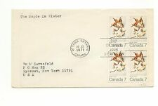 Canada FDC #538 Winter Leaves Block 1971 F232
