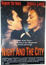 NIGHT AND THE CITY Robert De Niro, Jessica Lange - Filmplakat DIN A1 (gerollt)