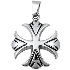 Solid Iron Cross Stainless Steel Pendant