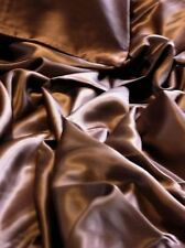 Brown New Luxurious 100% mulberry silk charmeuse Fitted sheet Twin size