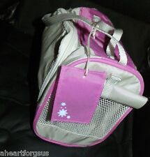 American Girl PET CARRIER DOG CAT COCONUT RETIRED Tagged TRAVEL EC Handles GRAY