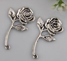 15pcs zinc alloy flower charms/pendants 34x20mm 1A449
