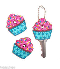 1 Cupcake Key Cover / Key Cap / Key Chain - Cute Car Accessory!