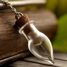 Nature Dandelion Seed Necklace Glass Vial Pendant best friend Gifts Wish Jewelry