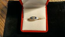 BEAUTIFUL antique diamond and  sapphire ring size 7