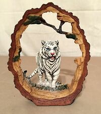 NEW WHITE BENGAL TIGER STATUE DECORATION WILDLIFE COLLECTIBLE SAFARI FRAME 7""