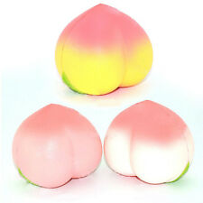 10CM Simulation Jumbo Cute Big Peach Squishy Phone Strap Bread Scent Gift Prop