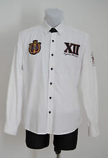 MENS JOHN DEVIN SHIRT 100% COTTON LONG SLEEVE CRICKET KEEPER WHITE M MEDIUM EXC