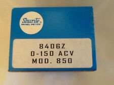 Shurite 0-150AC Volts  Panel  Meter Tested  NOS 8406Z clear