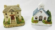 Ceramic collectible country cottages miniature figurines vintage