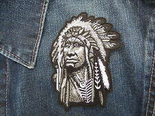 ECUSSON PATCH THERMOCOLLANT CHEF INDIEN country western cow boy line dance biker