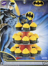 Batman Cupcake Treat Stand 1ct Centerpiece Party Supplies