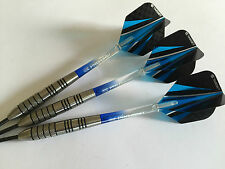 27g METEOR Tungsten Darts Set, Target Blue Ultra Flights, Vision Pro Grip Stems