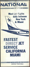 National Airlines system timetable 7/1/61 [6123]