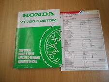 Werkstatthandbuch Honda VT 750 Custom shop manual e d`officina manuel d`atelier