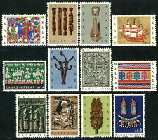 Greece 864-875, MNH. Popular Art. Knitting,Horse,Lyre,Icon,Ship,Necklace,1966