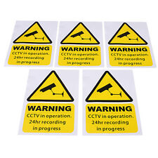 5 PCS CCTV VIDEO SURVEILLANCE SECURITY BURGLAR ALARM DECAL WARNING STICKER SIGNS