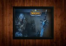World Of Warcraft Lich King Enmarcado A4 impresión Ideas de regalo Retro Vintage Juego De Arte