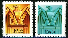 Art Deco Eagle Complete Set 2 High Denomination MNH Stamps Scott's 3471 & 3471A