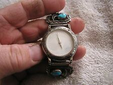 Vintage Quartz Watch with GK Sterling Turquoise Coral Band