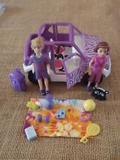 Polly Pocket Lot Dolls Jeep Car Vehicle Picnic Purple Boy Safar Accessories H80