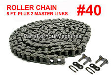 QUALITY ROLLER CHAIN #40 W/ TWO MASTER CONNECTING LINKS, 5 FT., MINI BIKES
