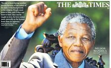 The London Times Uk Newspaper Friday December 6 2013 Nelson Mandela Dies Rip