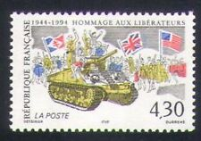 France 1994 Military/Second World War/WWII/Tank/Soldiers/Flags 1v (n35228)