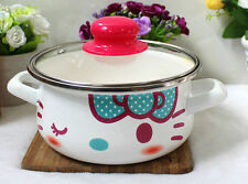 Hello Kitty 16cm with Lid BLUE Bow Pattern Easy Daily Multiple Use BOILING POT