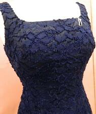 Vintage American 1950s/1960s Blue Cotton Lace Mini Dress Very Sassy and Cute
