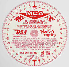 MCA Gradi Timing Disc per Ariel AJS, Triumph Norton BSA Rudge Matchless ecc.