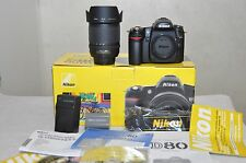 Nikon D D80 10.2 MP Digital SLR Camera - Black w/ 18-135mm Lens- ONLY 372 CLICKS