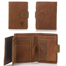 Vintage Men Genuine Leather Premium Wallet ID Card Case With Coin Pocket Trifold