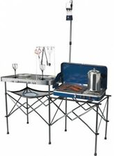 Ozark Trail Deluxe Portable Camp Kitchen Table Outdoor Cooking Grill Folding