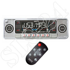 Retrò Autoradio USB SD/MMC CD Player design Oldtimer radio telecomando ch