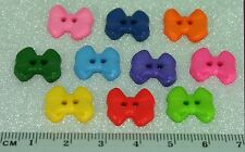 30 Bow Bright Novelty Buttons New - Great for Sewing & Many Craft Projects